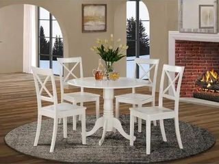 The Gray Barn Windy Poplars linen White Dinette Chairs  set of 2 chairs only