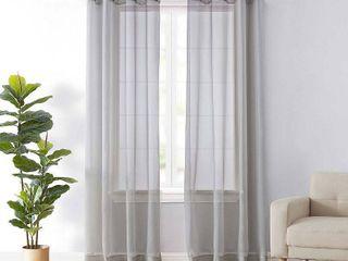 Arm and Hammer Curtain Fresh Odor Neutralizing Window Curtain  Grey  59X95