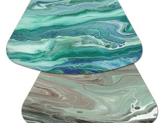 Reversible Wipe clean Wedge Shaped Placemats Set of 4