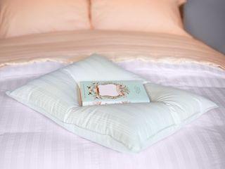 Extra Soft Stomach Sleeper Blue Damask Cotton White Down Pillow Retail 99 99