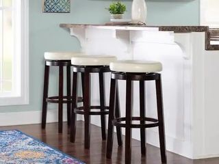 Copper Grove Bennery Backless Off white Swivel Seat Bar Stool  1 stool