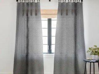 Caroline Okun Ebony Gingham Blackout Curtain Panel Retail 89 99