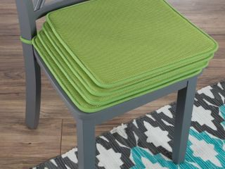 lavish Home M892053 16 x 16 in  Square Chair Cushions Square Foam  Green   Set of 4