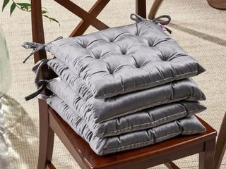 Foxhall Tufted Velvet Dining Chair Cushions  Set of 4
