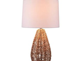 Bayne Natural Rattan Table lamp   14  x 25