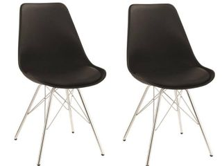 lowry Contemporary Dining Chair  Set of 2    18 75  x 21 75  x 33 50    18 75  x 21 75  x 33 50  Retail 151 49