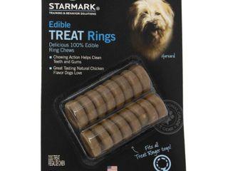 Starmark Edible Treat Rings Chicken Dry Dog Treat  16 Ct