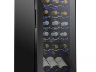 Schmecke 13 6 in  18 Bottle Compressor Freestanding Wine and Beverage Cooler  Black