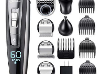 Hatteker Rechargeable 5 in 1 Nose Trimmer   Hair body Shaver  rfc 598    Used