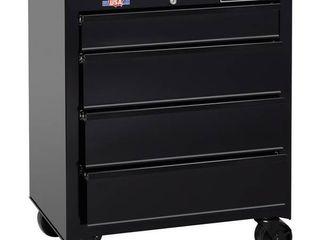 CRAFTSMAN Standard-Duty 26.5-in W x 32.5-in H 4-Drawer Ball-bearing Steel Tool Cabinet (Black)