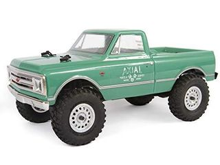 Axial SCX24 1967 Chevrolet C10 RC Crawler 4WD Truck RTR with lED lights  3 Ch 2 4GHz Transmitter  Battery  and USB Charger   light Green  AXI00001T1
