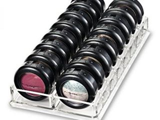 Acrylic Eyeshadow Organizer   Beauty Care Holder Provides 16 Space Stoarge byAlegory  Clear