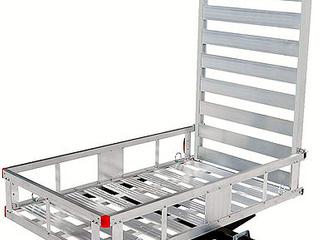 Maxx Haul Aluminum Cargo Carrier with 47  long Ramp