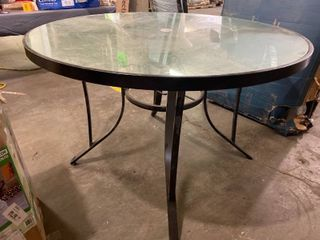 High Dining Table Glass Table Top
