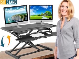 Defiance Pro Plus 37   Standing Desk   Black