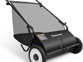 C AND A MARKETING INC 26 in  Push lawn Sweeper   Heavy Duty Durable Steel Structure and Rubber Wheels Sweeps leaves and Grass