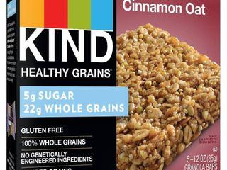Kind Healthy Grains Cinnamon Oat 5 GRANOlA BARS exp 1 15 2021