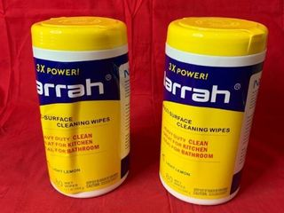 Narrah   Multi Surface Cleaning Wipes   Set of Two