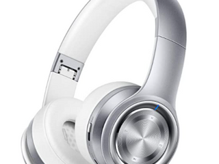 Picun P26 Wireless Bluetooth Headphone Foldable Headset Stereo   Silver White