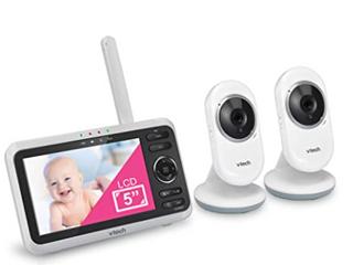 Vtech Vm350 2 5  Video Baby Monitor With 5  Screen  long Range
