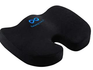 Everlasting Comfort   Memory Foam Seat Cushion   Black