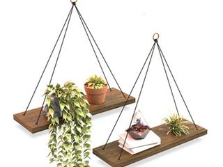 Omysa   Wood Hanging Shelves