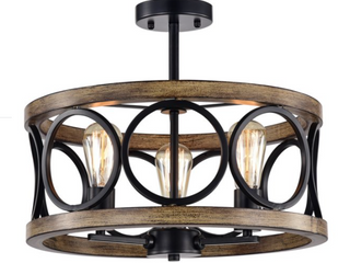 Warehouse of Tiffany Ceiling lamp meas  20x20x12 2 In  CM135 3