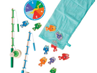 Melissa   Doug  Wooden Catch   Count Fishing Game