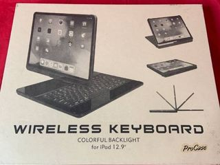ProCase   Wireless Keyboard   Colorful Backlight for iPad 12 9