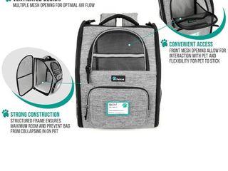 Petami Deluxe Pet Carrier Backpack  Heather Gray