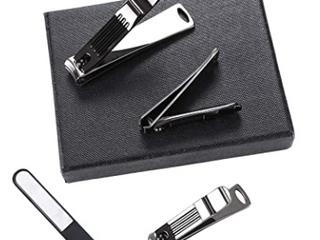 Beauty Tools   4Pc Nail Clipper Set   Black