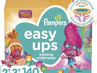 Pampers Easy Ups Girls Training Pants One Month Supply  Assorted Sizes