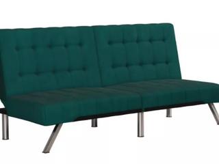 Green Textured Futon Armless Sofa