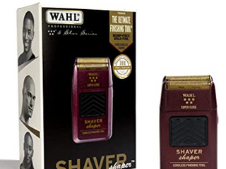 Wahls professional 5 Star series shaver shaper ultimate finish into gold foil cord  cordless shaver