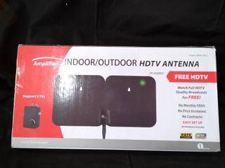 Amplified indoor outdoor HDTV antenna  supports 2 TVs