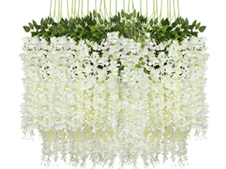 PAUWER 24 Pack Artificial Flowers  86 6 adding  Decor   Whites