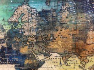 Pogusmavi World Map 2ft X 4Ft Hanging Art Work