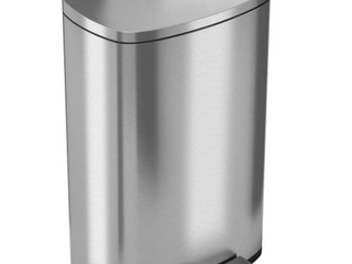 Stainless steel Steel Trash Can 13 2 Gallons