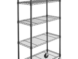 Metal Storage Rack Cart   HB ZWJ1201 5 1 Set Black