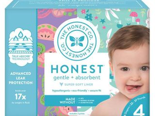 Honest Company Disposable Diapers Club Box Bunnies   Sliced Fruit   Size 4  60ct  Bunnies Sliced Fruit