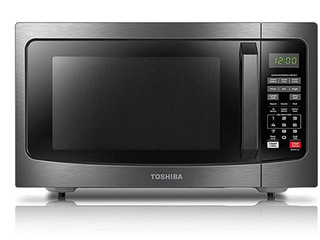 Toshiba Em131a5c bs Microwave Oven With Smart Sensor  Easy Clean Interior  Eco
