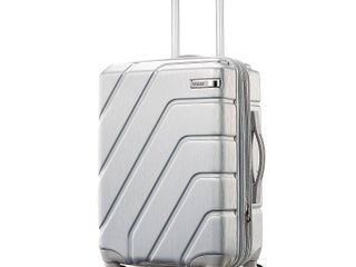 American Tourister Burst Trio Max Hardside Spinner luggage  Silver  24 INCH