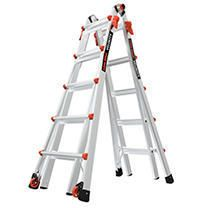 little Giant ladder Systems 15422 001 Velocity 300 Pound Duty Rating Multi Use ladder  22 Foot