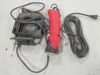 Craftsman jig saw and electric flashlight