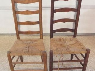 ladder Back Wood Chairs  2