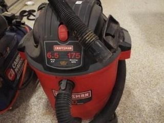 Craftsman Shop Vac  20 Gal  powers on