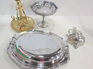 SIlVER PlATE lIDDED DISH  PEDESTAl CANDY DISH