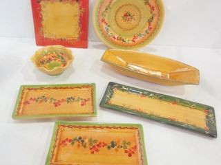 COMME TERRE FRANCE POTTERY   SERVING DISHES