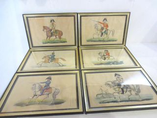 6 HAND COlORED MIlITARY   MONARCH ENGRAVINGS