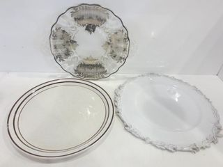 ENAMElED METAl PlATE  GlASS TRAY WITH SIlVER